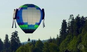 Cadeirante volta a voar em balão adaptado desenvolvido por amiga