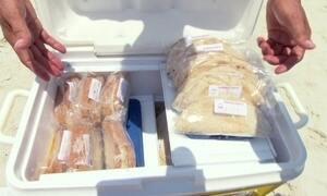 Hoje é dia de comida de praia: o vendedor