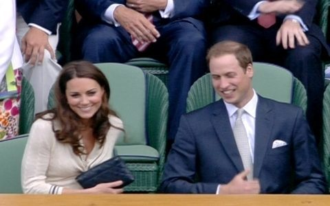 Principe William e Kate Middleton prestigiam partida de Federer