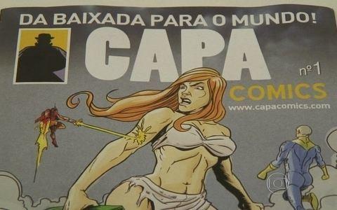 Moradores  criam revista em quadrinhos