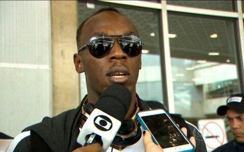 Usain Bolt chega ao Rio de Janeiro  e fala sobre os planos futuros
