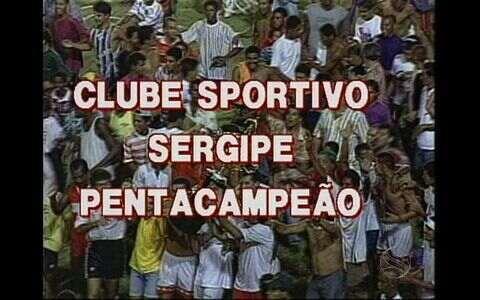 Em 95, Sergipe se iguala ao Itabaiana e é pentacampeão