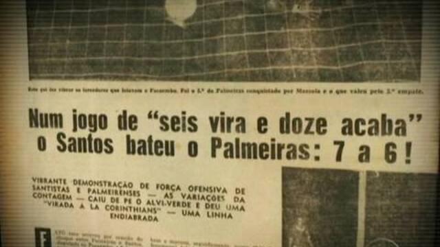 BLOG: Palmeiras x Santos: clássico já teve 13 gols em um jogo