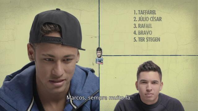 BLOG: Os cinco favoritos de Neymar: de goleiros, quatro ex-Seleção e só um colega de clube