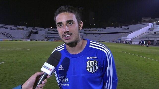 Galhardo fala sobre seus gols na partida