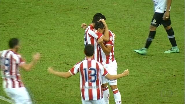 Náutico vence com gol único do estreante Léo Santos e chega junto do pelotão de frente