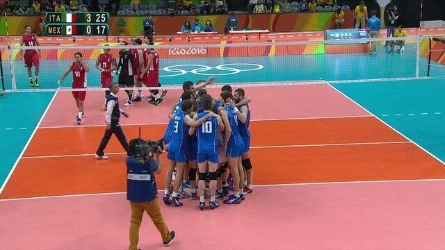 Itália vence o México por 3 a 0 pela fase preliminar do vôlei masculino na Rio 2016