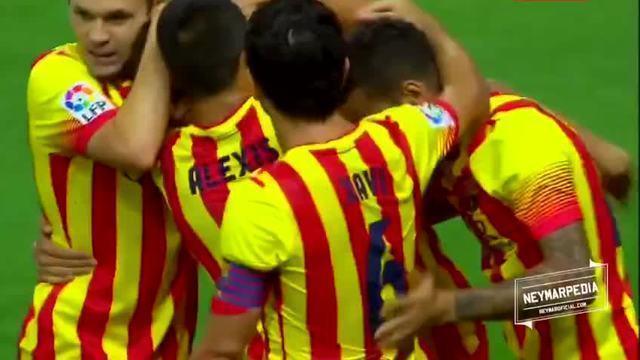 1° gol oficial pelo FC Barcelona - 21/08/2013