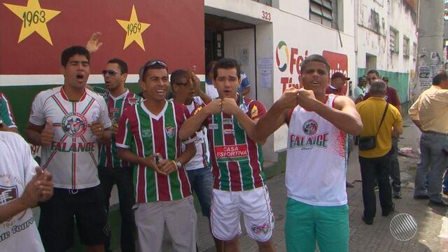 Torcedores do Flu de Feira falam sobre expectativas para o jogo contra o Volta Redonda