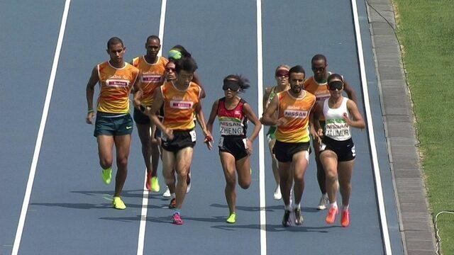 Renata Teixeira termina em terceiro na bateria 1 dos 1500m T11