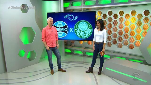 Maurício Saraiva fala sobre a atuação do Grêmio contra o Palmeiras