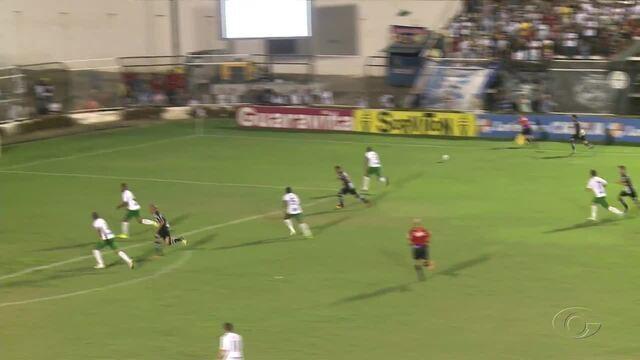 Os gols da vitória do ASA por 3 a 1 sobre o Guarani no primeiro jogo das quartas de final