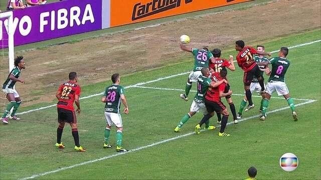 Após pênalti não marcado contra Palmeiras, jogadores do Sport reclamam da arbitragem