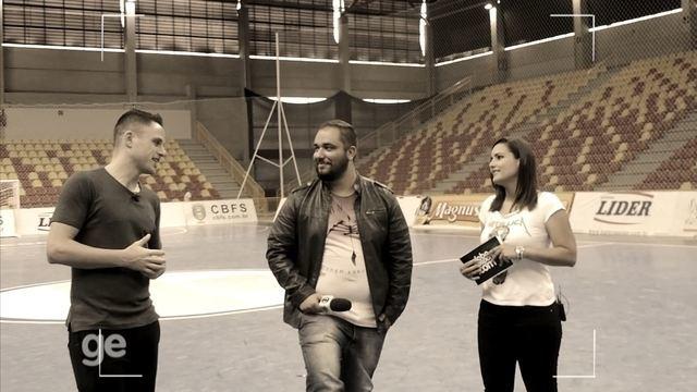 Programa do GE TV TEM recebe Rodrigo, capitão da seleção de futsal