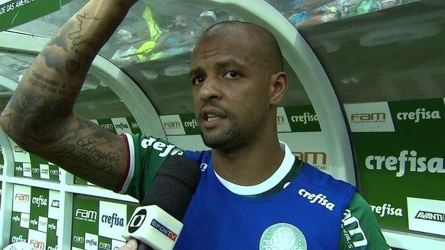 Felipe Melo diz que Palmeiras fez um bom jogo e que o time manteve a base