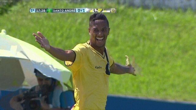 O gol de Santo André 0 x 1 São Bernardo pelo Paulistão 2017