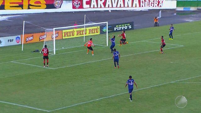 Vitória vence o Bahia de Feira fora e casa e mantém liderança no Campeonato Baiano