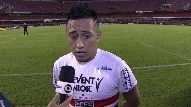 """Cueva reclama de seus gols perdidos contra o São Bento: """"Nunca errei tanto"""""""