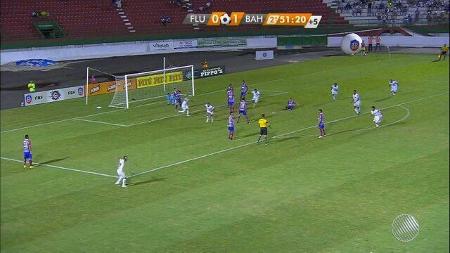 Fluminense empata com o Bahia nos últimos minutos do jogo e se mantém invicto no Baianão