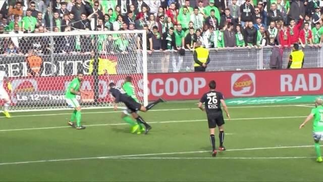 O gol de Saint Étienne 0 x 1 Caen pela 27ª rodada do Campeonato Francês
