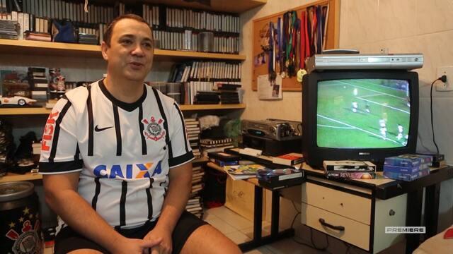 Vai, Corinthians - Colecionador de imagens do Corinthians mostra seu acervo