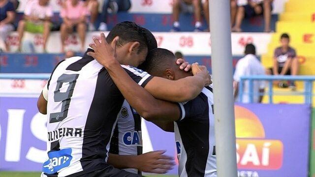 O gol de Santo André 0 x 1 Santos pela 11ª rodada do Campeonato Paulista