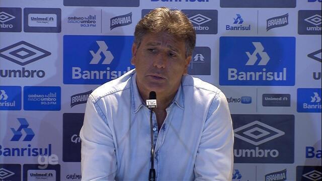 Confira a coletiva com Renato Portaluppi após vitória do Grêmio contra o Juventude