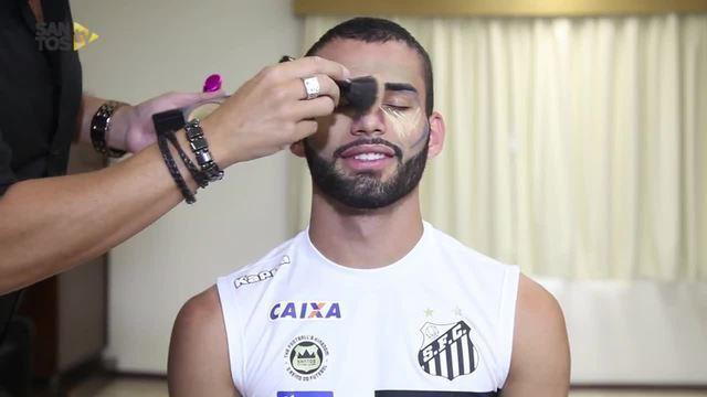 BLOG: De maquiagem? Thiago Maia é trollado em pegadinha da Santos TV; assista
