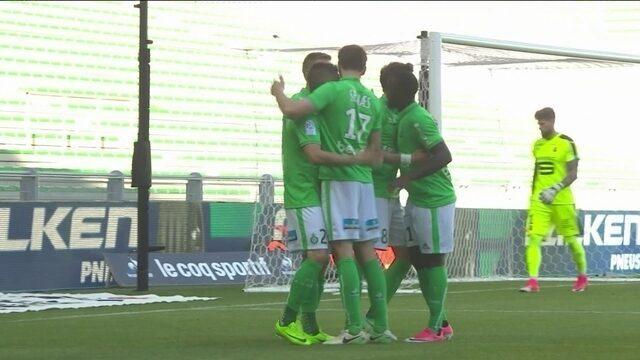 Os gols de Saint-Étienne 1 x 1 Rennes pelo Campeonato Francês