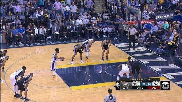 Melhores momentos de San Antonio Spurs 103 x 96 Memphis Grizzlies pela NBA