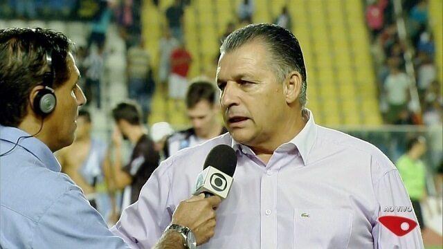 """""""Ficamos muito atrás no 2º tempo"""", analisa Zé Humberto após empate do Atlético-ES na final"""