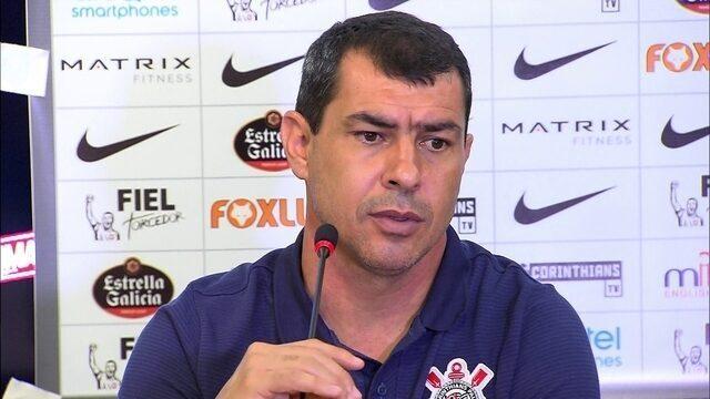 Assista à entrevista do técnico Fábio Carille depois da vitória do Corinthians em Campinas