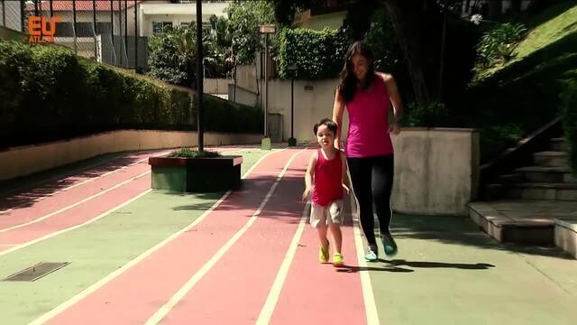 Mãe, médica e atleta: Giuli Pansera inclui filho na rotina de treinos