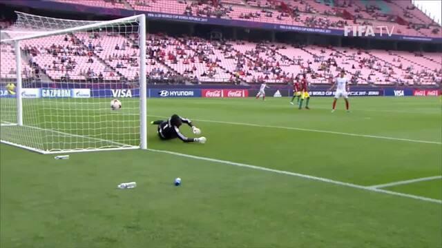 Os gols de Inglaterra 1 x 1 Guiné pelo Mundial Sub-20