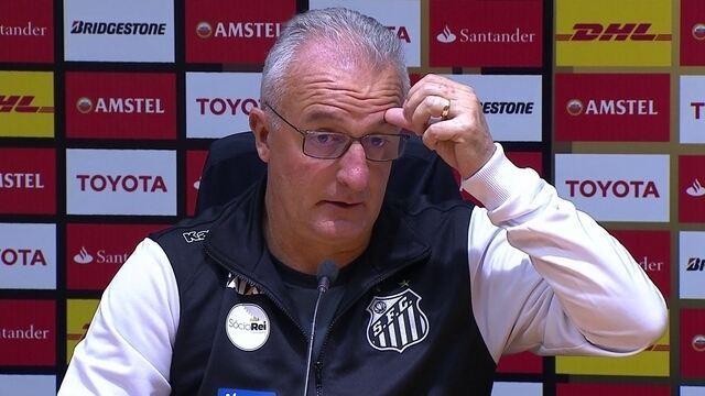 Veja a entrevista do técnico Dorival Júnior após a goleada do Santos na Libertadores