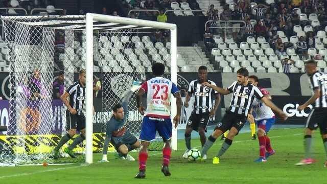 Gatito salva o Botafogo em dois chutes e Victor Luis tira em cima da linha aos 23' do 2º T