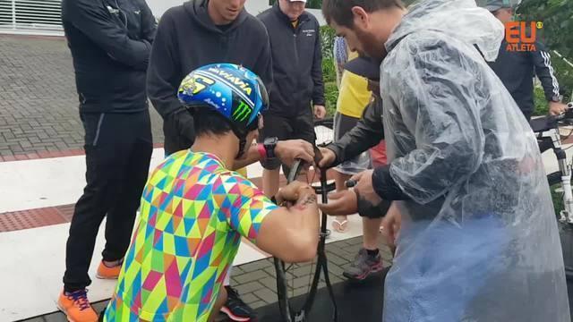 Esforço coletivo: galera se une para recolocar triatleta no Ironman Floripa