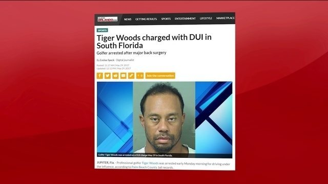 Tiger Woods é detido por dirigir alcoolizado