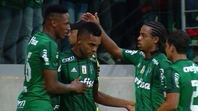 O gol de Palmeiras 1 x 0 Atlético-GO pela 9ª rodada do Brasileirão