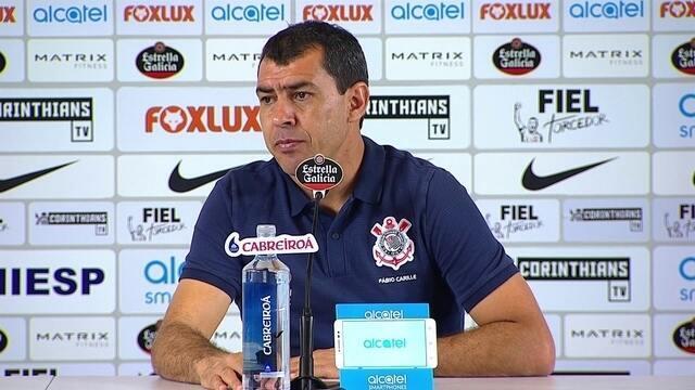 Veja a entrevista coletiva do técnico Fábio Carille, do Corinthians, após vencer o Bahia