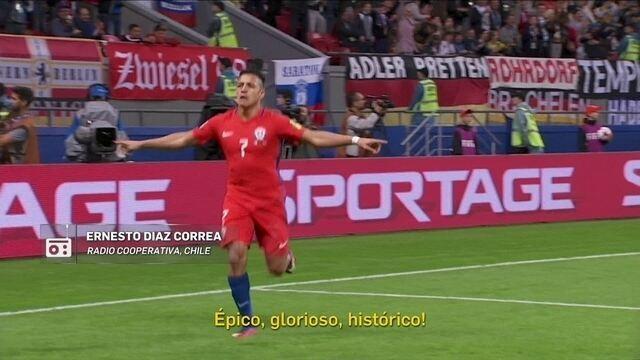 Redação AM: Ernesto Diaz Correa narra gol de Alexis Sánchez contra a Alemanha