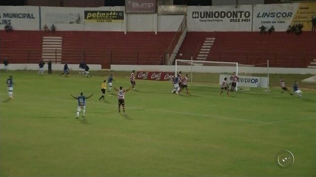 Penapolense é derrotado pelo Linense pela Copa Paulista