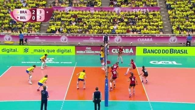 3º set: Brasil tem sequência de bloqueios; 4 x 2