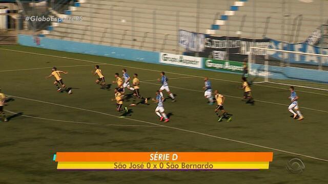 São José e São Bernardo empatam sem gols pelo 1º jogo das oitavas da Série D