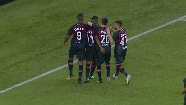 Os gols de Atlético-PR 4 x 1 Bahia pela 20ª rodada do Campeonato Brasileiro