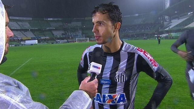 "Nilmar fala sobre estreia pelo Santos: ""Feliz"""