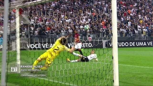 Redação AM narra gol do Vitória contra o Corinthians