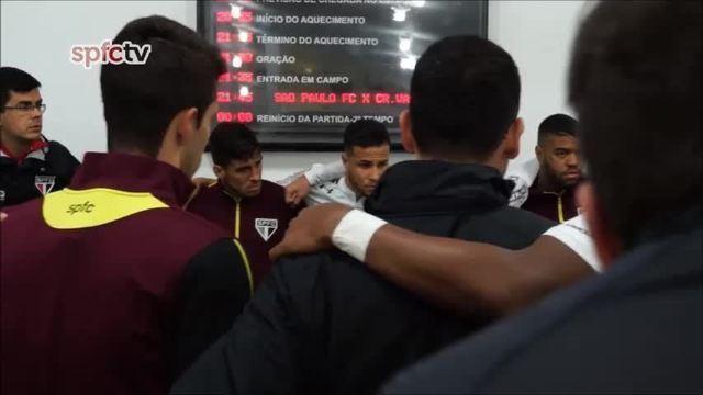 """Petros em preleção antes do jogo entre São Paulo e Vasco: """"Atropelar é o c..."""""""