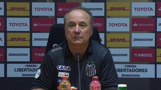 Levir Culpi fala após elminação do Santos na Libertadores; assista na íntegra