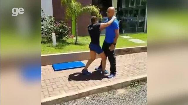 Sarah Menezes compartilha detalhes de treino físico em Teresina. Veja